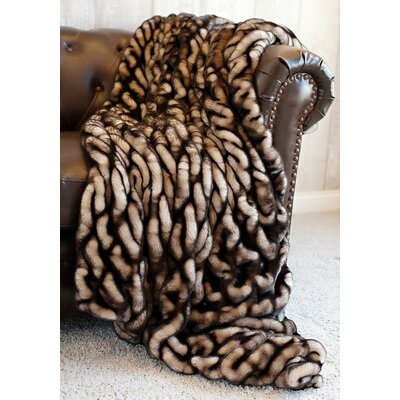 Couture Shadow Mink Throw Size: 60 L x 60 W