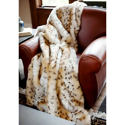Limited Edition Series Snow Leopard Throw Size: 86 L x 60 W