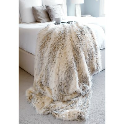 Limited Edition Series Arctic Leopard Throw Size: 60 L x 60 W