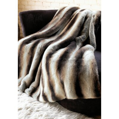 Limited Edition Series Chinchilla Throw Size: 60 L x 60 W