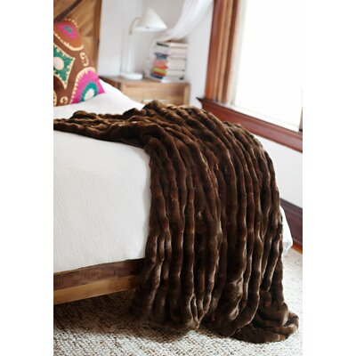 Couture Throw Color: Mahogany Mink, Size: 72