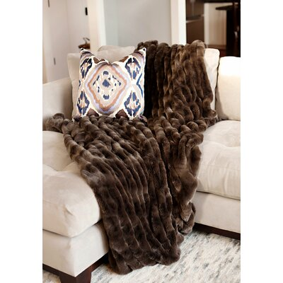 Couture Throw Color: Taupe Mink, Size: 72