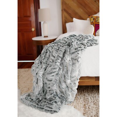 Couture Throw Color: Frosted Grey, Size: 60 L x 60 W
