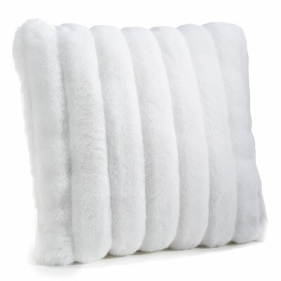 Signature Series Throw Pillow Color: White Mink