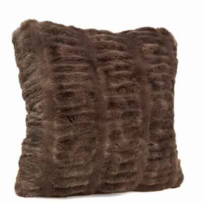 Couture Throw Pillow Size: 18 H x 18 W x 3 D, Color: Taupe Mink