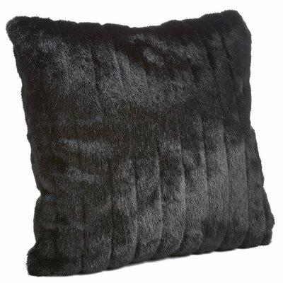 Signature Series Throw Pillow Color: Black Mink