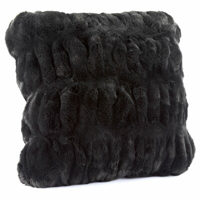 Couture Throw Pillow Size: 18 H x 18 W x 3 D, Color: Onyx Mink