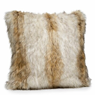Limited Edition Series Faux fur Throw Pillow Size: 24 H x 24 W