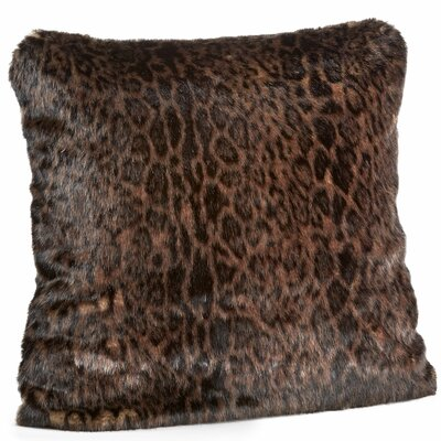 Signature Series Dark Leopard Throw Pillow Size: 18 H x 18 W