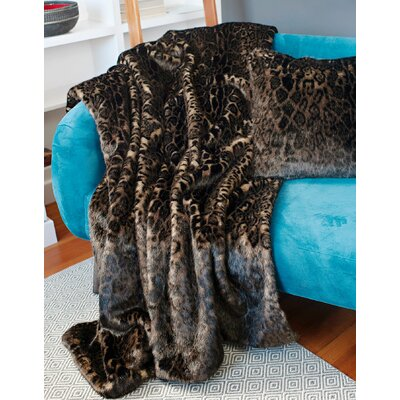 Signature Series Dark Leopard Throw Size: 60 H x 60 W