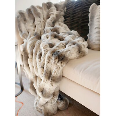 Couture Faux Fur Throw Size: 60 H x 60 W