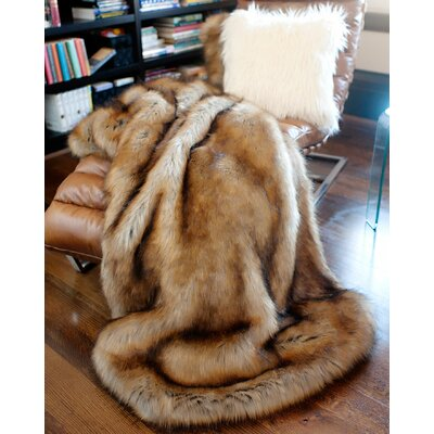 Limited Edition Series Tawny Fox Throw Size: 60 H x 60 W