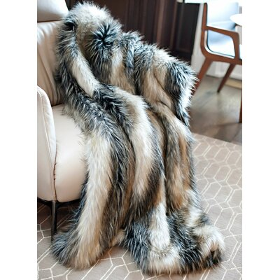 Limited Edition Series Faux Fur Throw Size: 60 H x 60 W