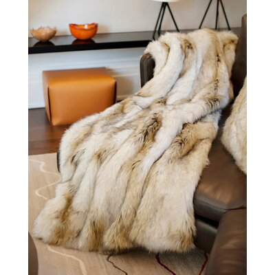 Limited Edition Series Russian Wolf Throw Size: 60 H x 60 W