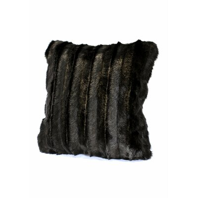 Signature Series Throw Pillow Color: Black Mink, Size: 24 H x 24 W x 6 D