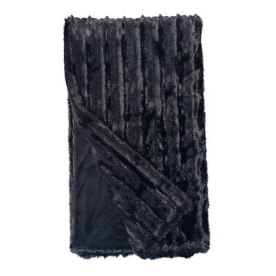 Signature Series Carved Throw Color: Black Mink