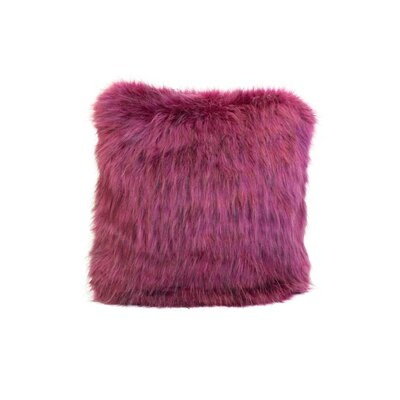 Signature Series Throw Pillow Color: Magenta Fox