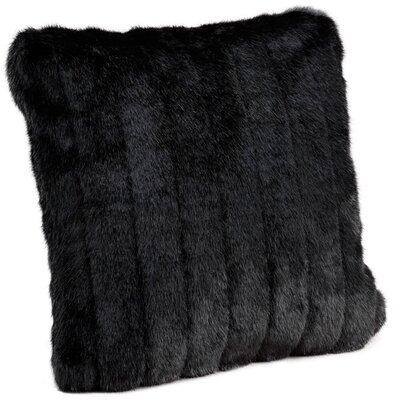 Faux Mink Throw Pillow Size: 24 H x 24 W x 5 D