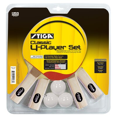Classic 4 Player Table Tennis Racket Set image