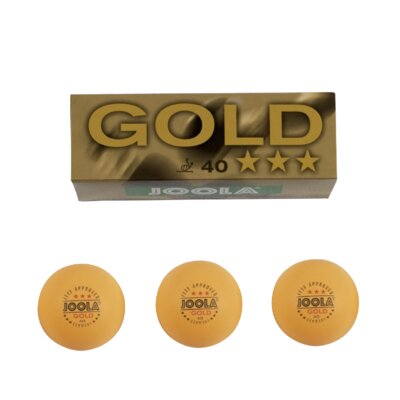 3-Star Ping Pong Ball (Set of 3) Gold 3-Star 40 mm Ping Pong Balls - Orange