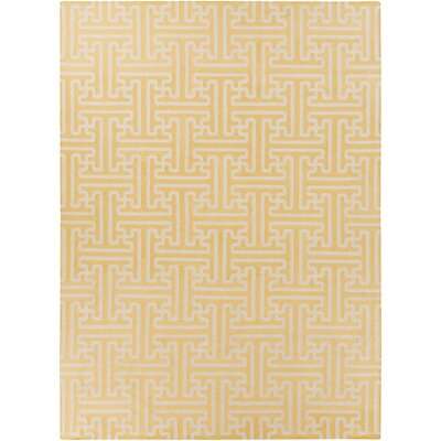 Archive Beige/Gold Geometric Area Rug