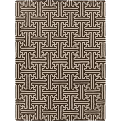 Archive Chocolate Geometric Area Rug