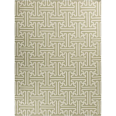 Archive Green Geometric Area Rug