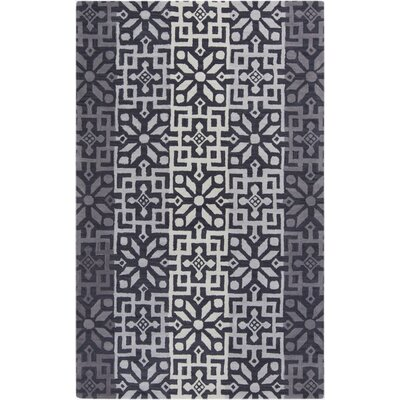 Smithsonian Hand-Tufted Gray Area Rug Rug Size: 8 x 11