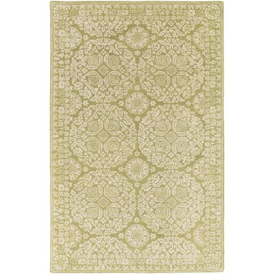 Smithsonian Hand-Tufted Green/Neutral Area Rug Rug Size: Runner 26 x 8