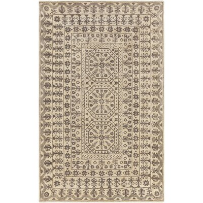 Smithsonian Hand-Tufted Gray/Neutral Area Rug Rug Size: Rectangle 5 x 8
