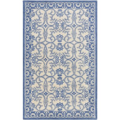 Hand-Tufted Blue/Neutral Area Rug Rug Size: Runner 26 x 8