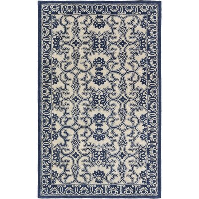 Smithsonian Hand-Tufted Blue/Neutral Area Rug Rug Size: Runner 26 x 8