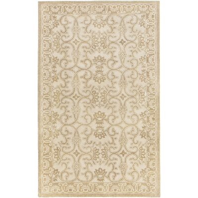 Smithsonian Hand-Tufted Brown/Neutral Area Rug Rug Size: 5 x 8