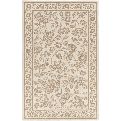 Smithsonian Hand-Tufted Neutral/Brown Area Rug Rug Size: 33 x 53