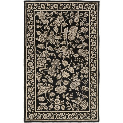 Smithsonian Hand-Tufted Black/Neutral Area Rug Rug Size: Rectangle 33 x 53