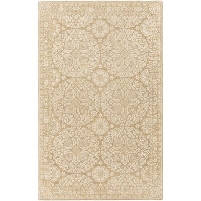 Smithsonian Hand-Tufted Green/Neutral Area Rug Rug Size: 5 x 8