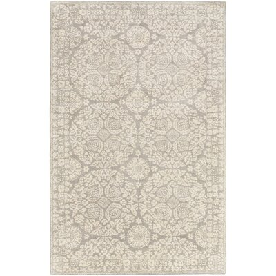 Smithsonian Hand-Tufted Gray/Neutral Area Rug Rug Size: 33 x 53