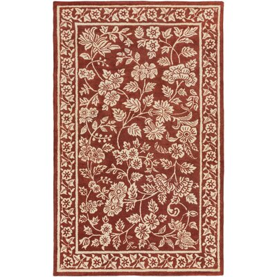 Smithsonian Hand-Tufted Red/Neutral Area Rug Rug Size: 2 x 3