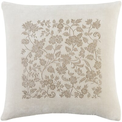 Cotton Throw Pillow Size: 22 H x 22 W x 5 D, Color: Khaki / Taupe