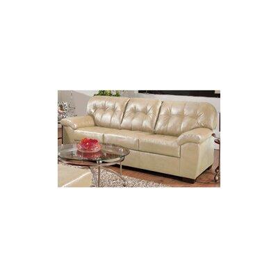 9569-03 Soho Natural UFI2465 Simmons Upholstery Soho Bonded Leather Sofa