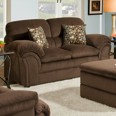 6150-02 Harper Umber UFI2571 Simmons Upholstery Harper Loveseat
