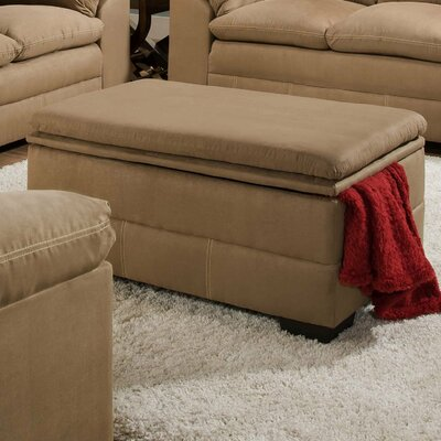 Chamberlain Rectangle Storage Ottoman by Simmons Upholstery Upholstery: Latte