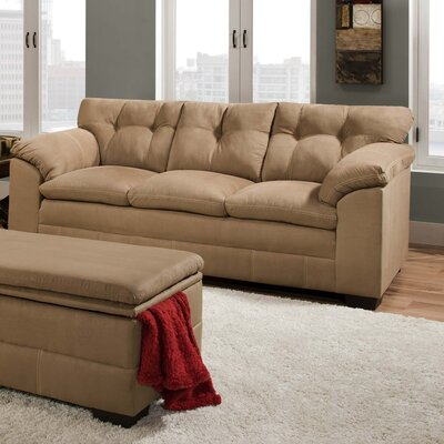 6765-03 Velocity Latte UFI2675 Simmons Upholstery Velocity Sofa