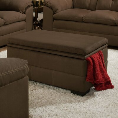 Chamberlain Rectangle Storage Ottoman by Simmons Upholstery Upholstery: Espresso