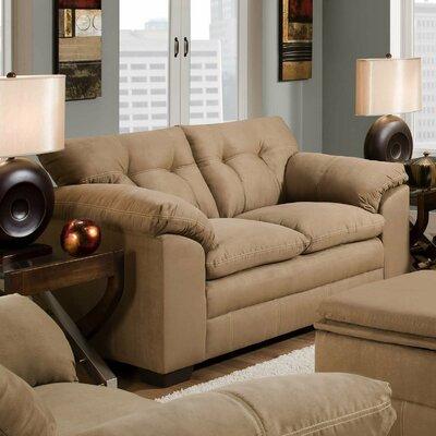 6765-02 Velocity Latte UFI2693 Simmons Upholstery Velocity Loveseat