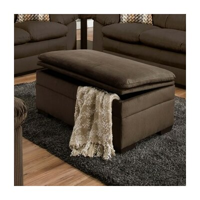 Chamberlain Storage Ottoman Upholstery: Velocity Mineral / Nico Earth