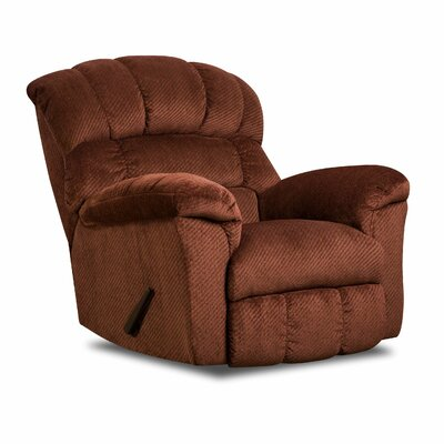 Este Manual Rocker Recliner by Simmons Upholstery Upholstery: Victor Burgundy