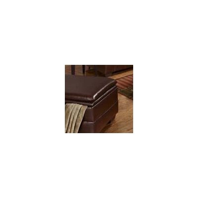 Sebring Storage Leather Ottoman Upholstery: Coffee Bean