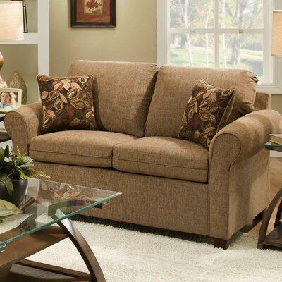 Cullen Loveseat Upholstery: Acorn