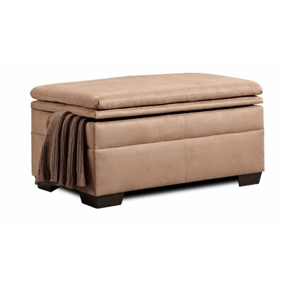 Chamberlain Storage Ottoman by Simmons Upholstery Upholstery: Velocity Latte / Nico Earth